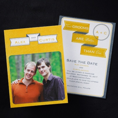2 Grooms  Save the Date