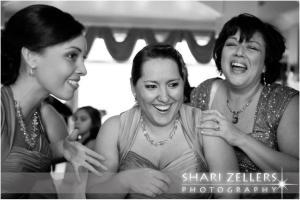 Bridesmaids having fun