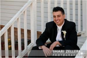 Hiram sitting on steps