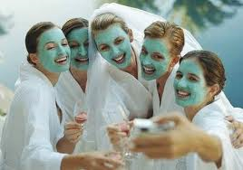Ladies in mud masks
