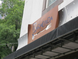 Baraonda outside sign