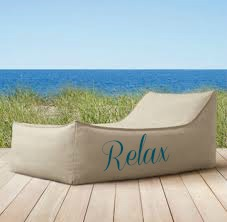 Beach with lounge chair RELAX