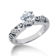 Engagement ring vintage round setting