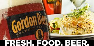 Gordon Biersch Beer and food