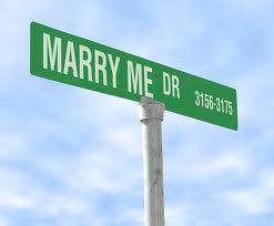 Marry me street sign
