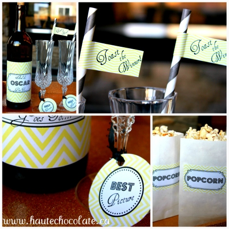 Oscar Party_Free Printables_Yellow Chevron_Modern Party Decor
