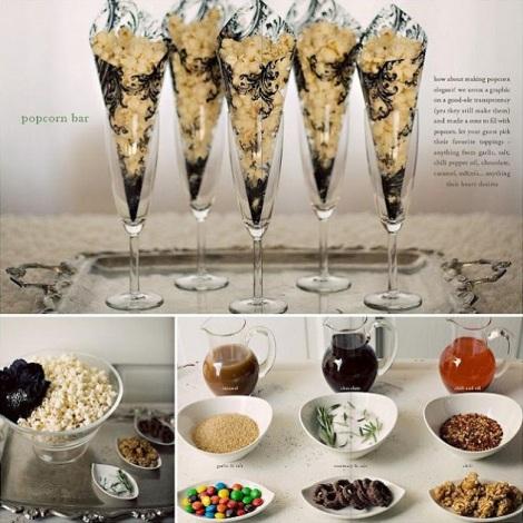 Oscar popcorn bar setup