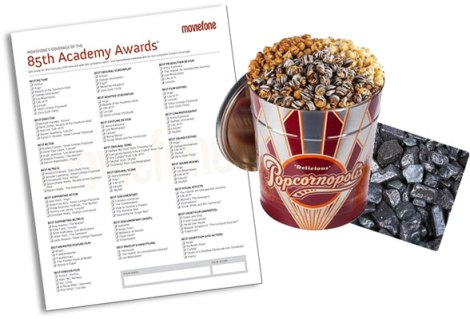 Oscars ballot with popcorn -1360971070