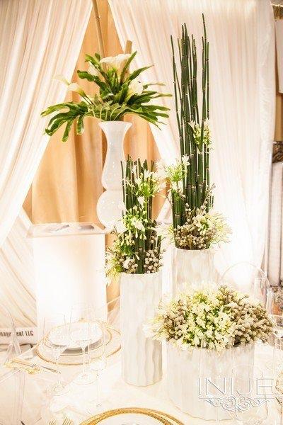 Unique Event Management White and Green Decor