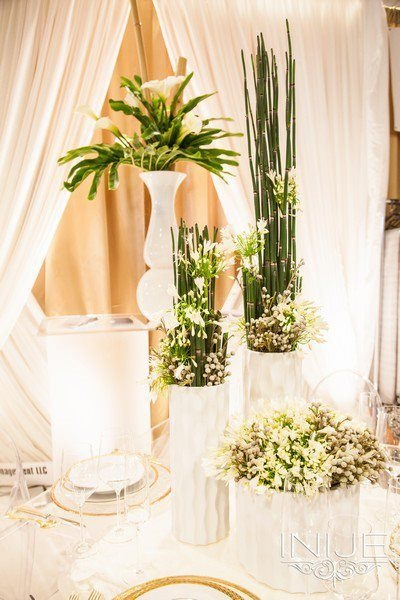 Unique Event Management White and Green Decor