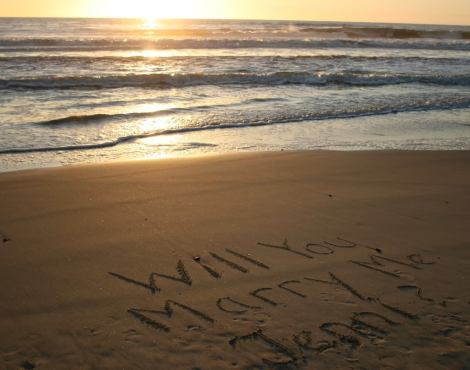 Will you Marry me in the sand