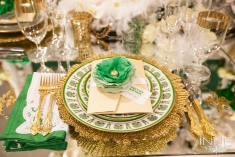 YES Tablescape in Emerald
