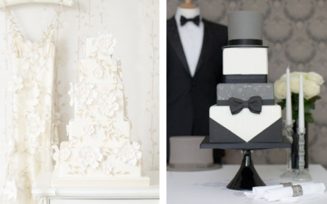 Dress and Tuxedo inspired Cakes-Inspired-by-Wedding-Dress-and-Tuxedo-5