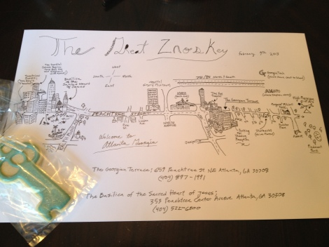 Custom map created by Groom ~ photo taken by JBEvents