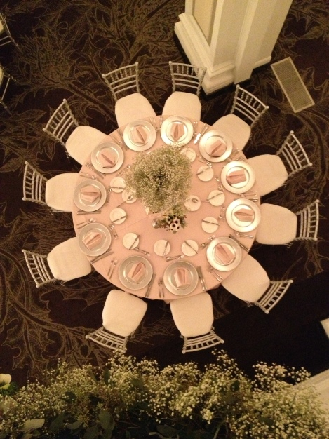 View of guest table from above ~ photo by JBEvents