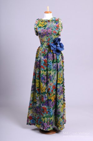 Monet inspired long dress