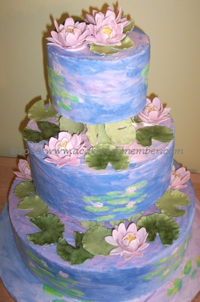 Water Lily Cake Decorating