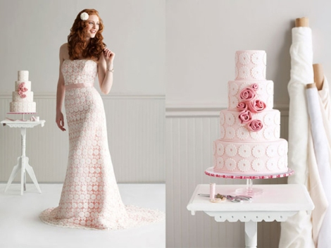 pink undertone lace dress-fashion-inspired-cake-1