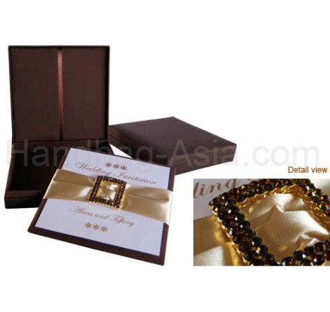 Custom Invitation with special box for delivery.  Formal wedding