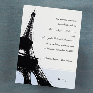 This type of invitation would be appropriate for a destination wedding.