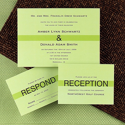 The style of this invitation is modern/contemporary and would typically be a semi-formal wedding.