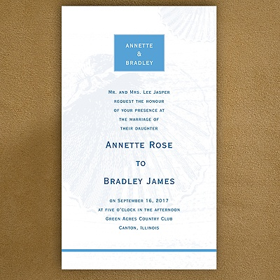 This is a casual invitation which would allow for lighter clothing options appropriate for a summer wedding, perhaps even out of doors.