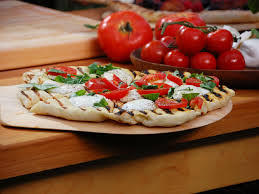 Bobby Flay Grilled Margherita Pizza