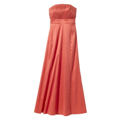Pleated Bodice Shantung Strapless long dress from Target
