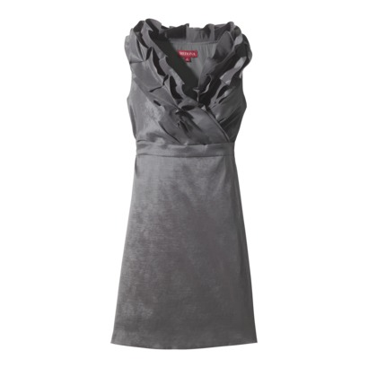 Ruffled neck dress in Shantung from Target