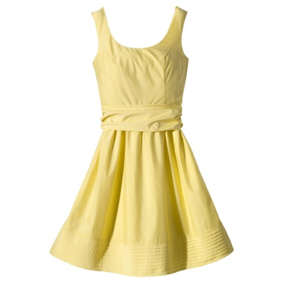 Scoop neck taffeta dress ~ Target