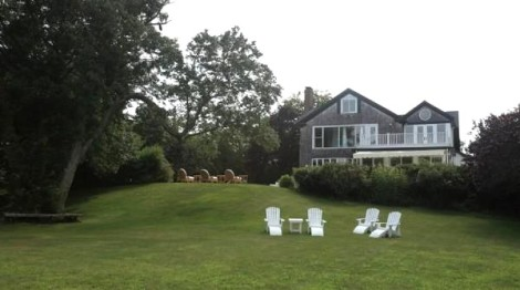 Back yard facing house