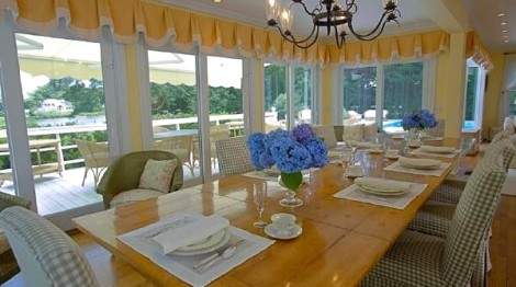 Dining Room with view of deck