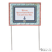4th of July Yard Sign Nautical ~ Oriental Trading