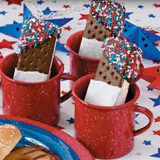 Ice Cream Sandwiches in Red Mug