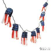 Patriotic Handing Lanterns with Lights