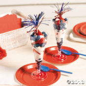 Patriotic Parfait cups with Fireworks
