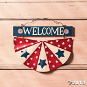 Patriotic Welcome Wall Bunting ~ Oriental Trading