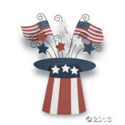 Top Hat with Fireworks wall hanging ~ Oriental Trading