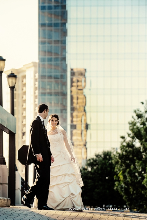The Happy Couple with the Buckhead Skyline
