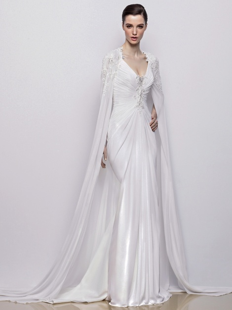 Enzoani Ines Cape Available at LaRaines Bridal Boutique