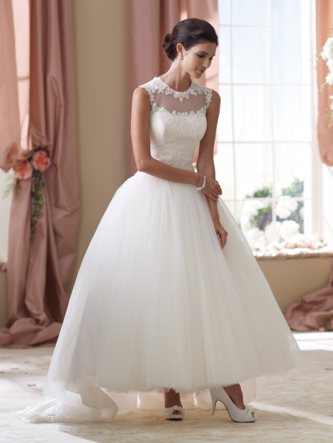David Tutera for Mon Cheri, Style No. 114294 Available at Treasures Formals and Bridal