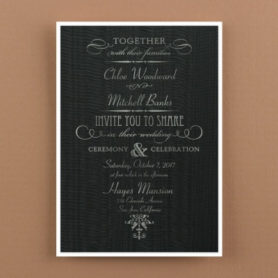 Black Moire Invitation
