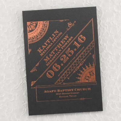 Art Deco inspired invitation