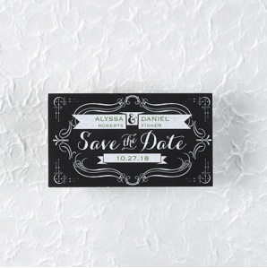 Art Deco inspired Save the Date magnet