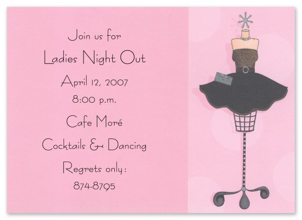45825Party Outfit Invitation