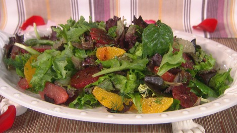 Citrus Salad with Cocoa Vinaigrette