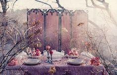 Pink tea party decor