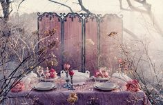 Pink tea party decor