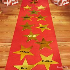 Red Carpet with Guests Names