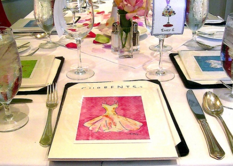 watercolor place settings